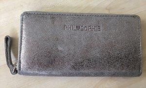PHILOSOPHY Portefeuille argenté-gris clair cuir