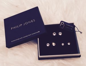 Philip Jones by Swarovski Ohrstecker Ohrringe Set Neu Diamanten