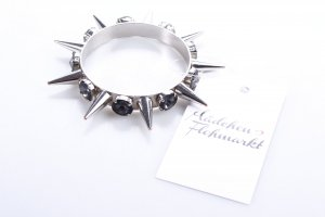 Philipp Plein Braccialetto argento-antracite stile stravagante