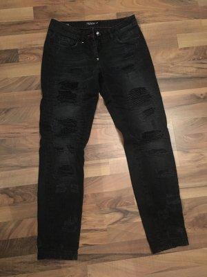 Philipp Plein Boyfriendbroek zwart