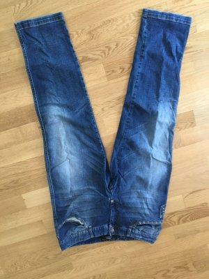 Philipp Plein Boyfriend Jeans steel blue cotton