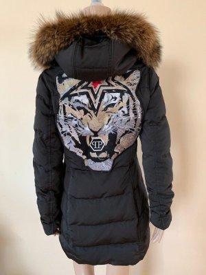 Philipp plein down coat , with fox fur