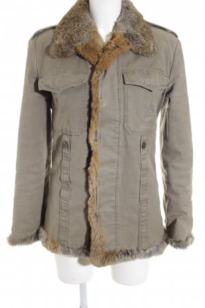 Philipp Plein Felljacke camel Glitzer-Optik