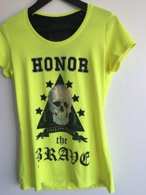 Philipp Plein gelbes T-Shirt mit Swarovskisteinen