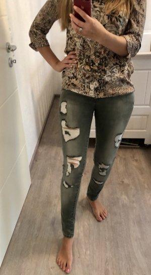 Philipp Plein Illegal Fight Club Skinny-Jeans 36 S Grau strech