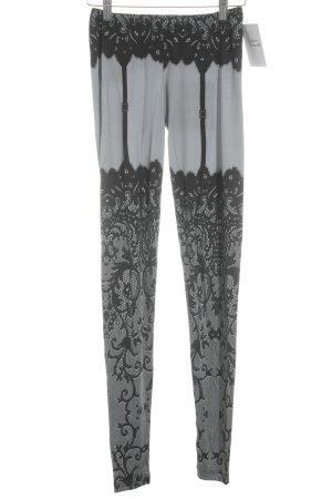 Philipp Plein Jeggings grey-black themed print extravagant style