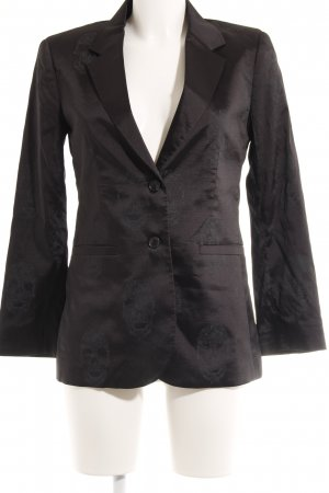 Philipp Plein Long-Blazer schwarz grafisches Muster Dandy-Look