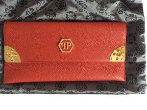 PHILIPP PLEIN -  rote Tasche - Clutch- mit Gold HW