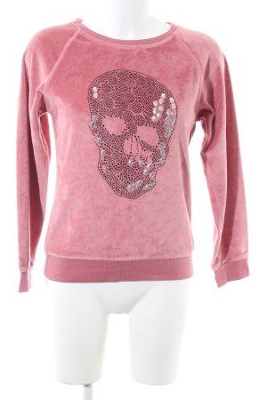 Philipp Plein Rundhalspullover pink Motivdruck Casual-Look