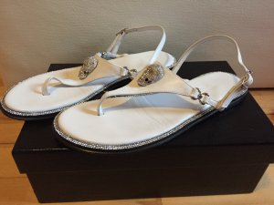 Philipp Plein Toe-Post sandals white