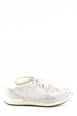 Philipp Plein Lace-Up Sneaker natural white-light grey casual look