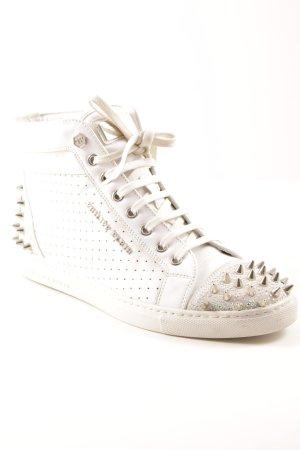 Philipp Plein Lace-Up Sneaker white extravagant style