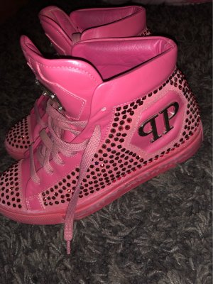 Philipp Plein Lace-Up Sneaker pink
