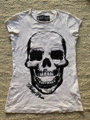 Philipp Plein T-Shirt weiß mit Totenkopf