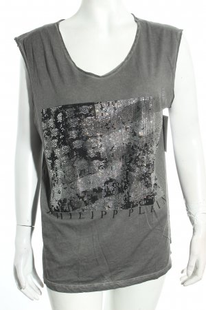 Philipp Plein Top grau Washed-Optik