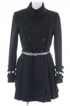 Philipp Plein Trenchcoat schwarz Business-Look