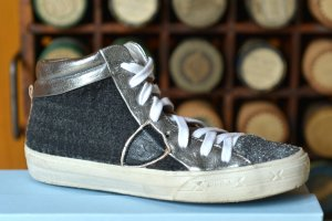 PHILIPPE MODEL 38 Tweed grau schwarz silber Glitter OVP sgt.Zstd.