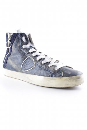 Philippe Model High Top Sneaker graublau-blau Farbverlauf Casual-Look