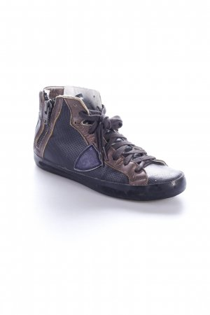 Philippe Model High Top Sneaker schwarz-bronzefarben Leder-Optik
