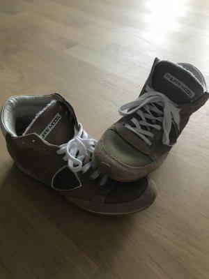 Philippe Model Sneaker, Leder, Größe 38, braun/beige