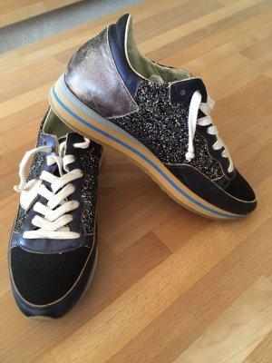 Philippe Model Wedge Sneaker blue-beige