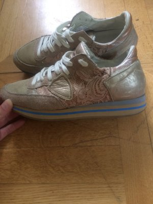 Philippe Model Sneakers Turnschuhe Gr 39 Rosa Gold