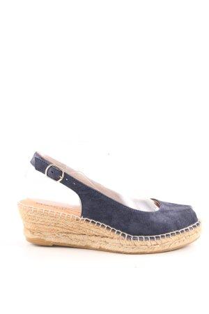 Phillip Hardy Paris Espadrille Sandals blue-natural white cable stitch