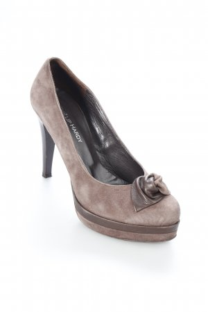 Phillip Hardy Paris Plateau-Pumps graubraun Wildleder-Optik