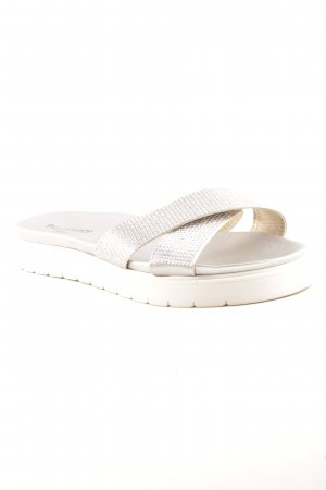 Phillip Hardy Paris Platform Sandals silver-colored-white casual look