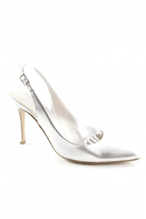 Phillip Hardy Paris Slingback-Pumps silberfarben Metallic-Optik