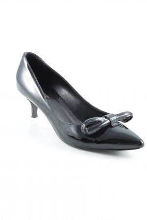 Phillip Hardy Paris Spitz-Pumps schwarz Glanz-Optik