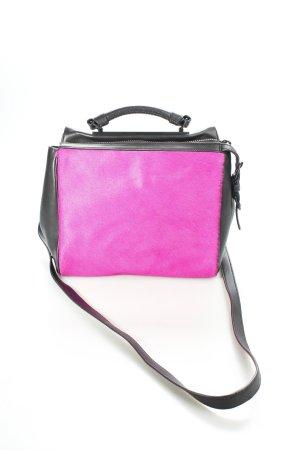 Phillip Lim Borsa a spalla nero-rosa stile stravagante