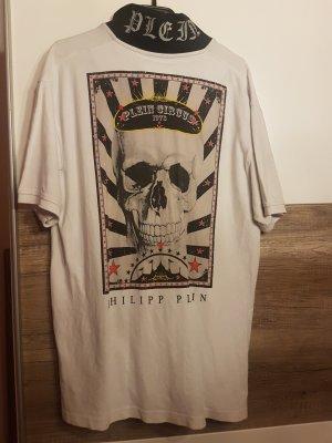 Camiseta tipo polo blanco-negro