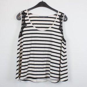 Philosophy Blues Original Camisa de rayas negro-blanco tejido mezclado