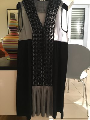 Philosophy Di Alberta Ferretti Empire Dress black-light grey silk