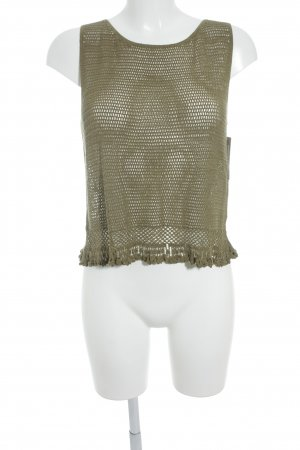 Philosophy Di Alberta Ferretti Crochet Top khaki Boho look