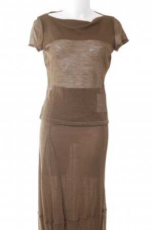 Philosophy Di Alberta Ferretti Jupe tricotée brun élégant