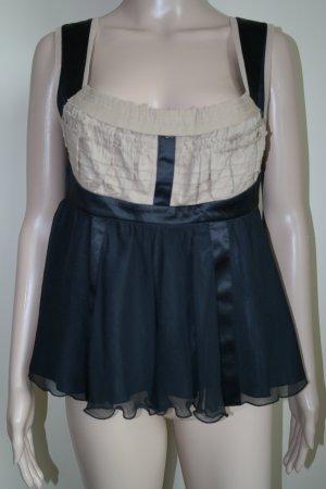 Alberta Ferretti Strappy Top black-light brown silk