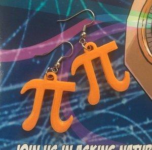 Pi Symbol Ohrring