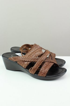 Pia di Fiore Strapped High-Heeled Sandals brown-dark brown