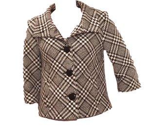 Pia Jessen Tweed blazer zwart-wit