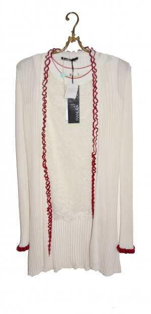 Long Knitted Vest multicolored viscose