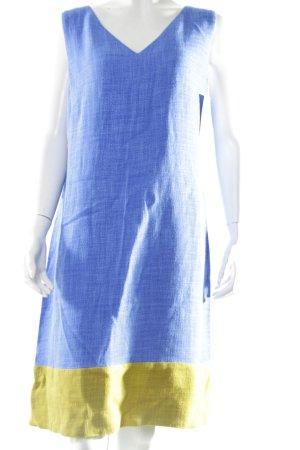 Piazza Sempione A-Linien Kleid blau-dunkelgelb Colourblocking
