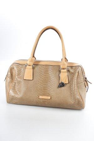 Picard Handtasche beige-hellbraun Animalmuster Reptil-Optik