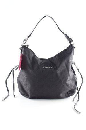 Picard Handtasche schwarz-silberfarben Monogram-Muster Casual-Look