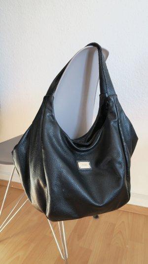 Picard Handtasche Umhängetasche schwarz mit tollem Muster innen