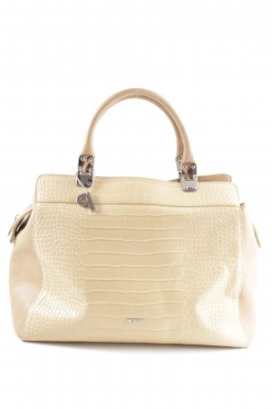Picard Henkeltasche creme Allover-Druck Business-Look