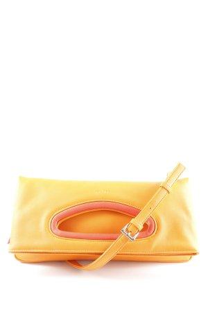 Picard Borsa con manico arancione-rosso chiaro color block logo in rilievo
