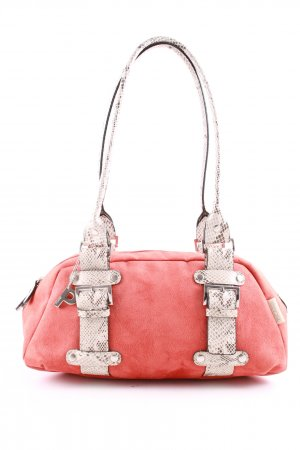 Picard Henkeltasche rot-creme Animalmuster Casual-Look