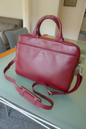 Picard Laptop bag dark red-brick red leather